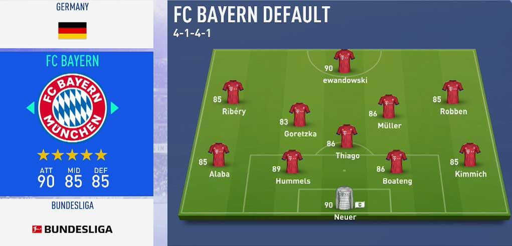 بهترین تیمهای فیفا 19