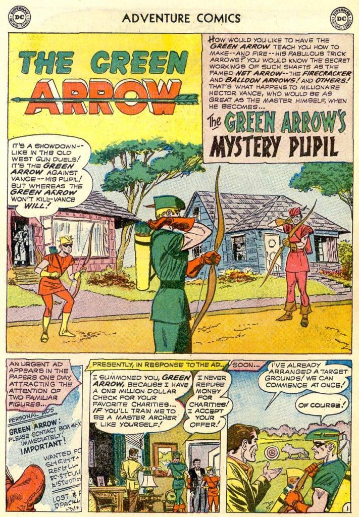 داستان The Green Arrow's Mystery Pupil