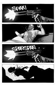 لحظهی به قتل رسیدن ریک گرایمز در تخت خوابش (برای دیدن سایز کامل روی تصویر کلیک کنید.)