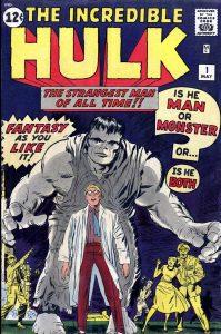جلد شمارهی 1 کمیک بوکهای The Incredible Hulk با هالک خاکستری (برای مشاهده سایز کامل روی تصویر کلیک کنید.)