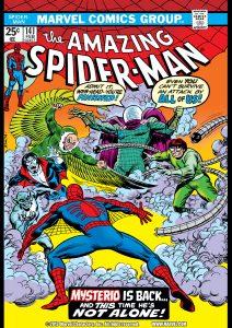 کاور شماره 141 از کمیک بوک The Amazing Spider-Man (برای دیدن سایز بزرگ روی تصویر کلیک کنید)