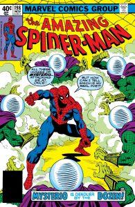 کاور شماره 198 از کمیک بوک The Amazing Spider-Man (برای دیدن سایز بزرگ روی تصویر کلیک کنید)