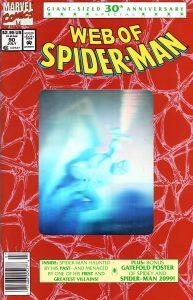 کاور شماره 90 از کمیک بوک Web of Spider-Man (برای دیدن سایز بزرگ روی تصویر کلیک کنید)