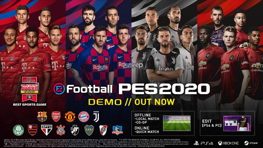 دموی بازی PES 2020 منتشر شد [دانلود کنید]