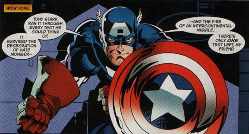 کاپیتان آمریکا به همراه سپر معروفش