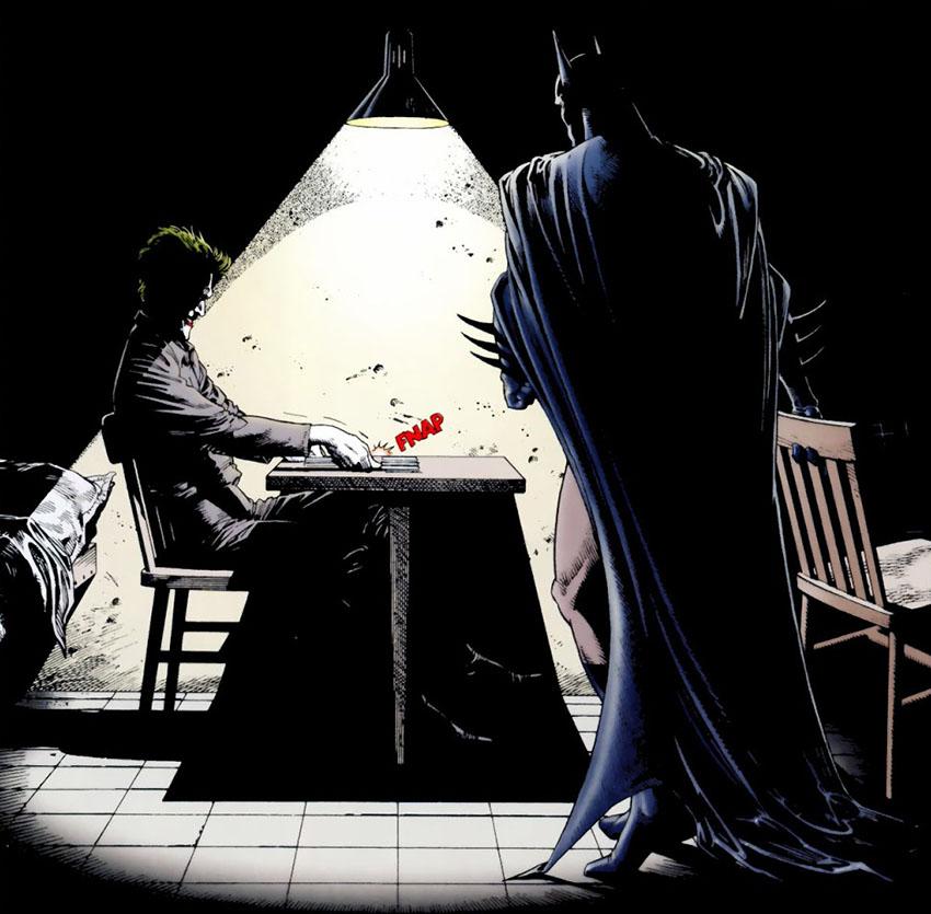 جوکر و بتمن در کمیک Batman: The Killing Joke