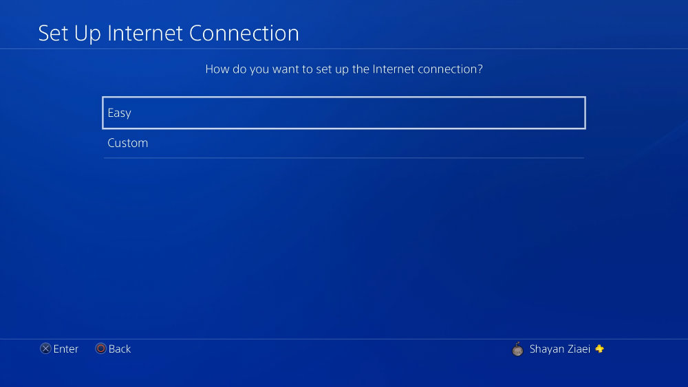 اتصال پلی استیشن 4 به اینترنت
