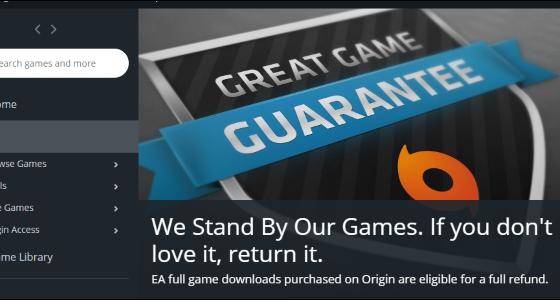 چگونه بازیهای فروشگاه Origin را پس بدهیم و پولش را دریافت کنیم؟