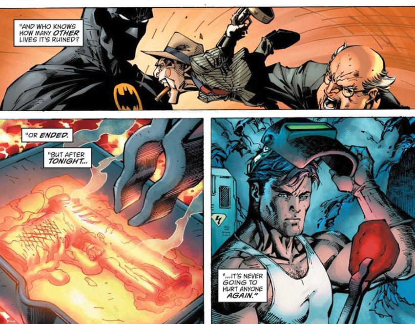 استفاده بروس وین از تفنگی که باعث مرگ پدر و مادرش شد