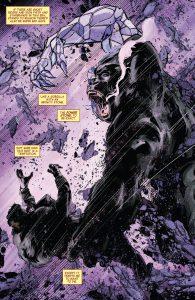 درگیری آیرون من با گوریلی که سنگ قدرت را در اختیار دارد (برای دیدن سایز کامل روی تصویر کلیک کنید)