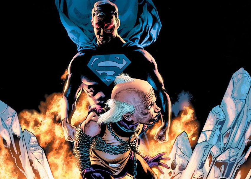 مستر میکسیزپیتلیک و سوپرمن خشمگین در کنار او