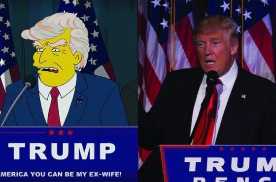 یکبار برای همیشه، پیشبینیهایی منسوب به سیمپسونها در مورد ترامپ واقعی نیست