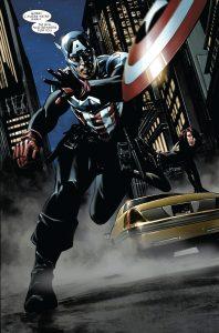 باکی بارنز در نقش کاپیتان آمریکا (برای دیدن سایز کامل روی تصویر کلیک کنید)