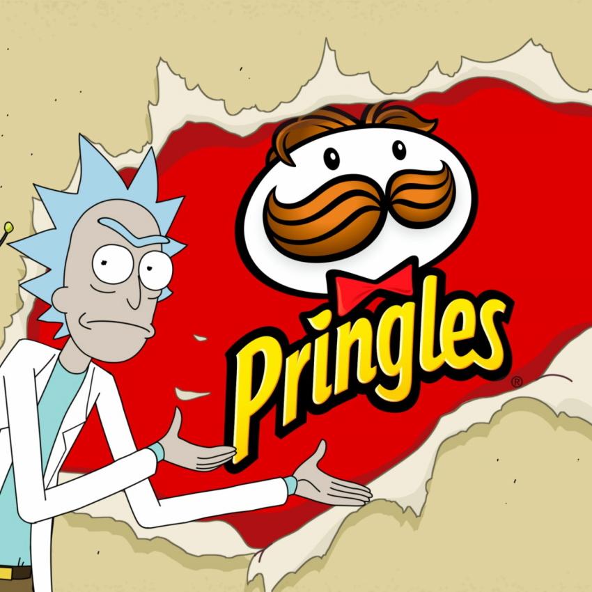 بررسی قسمت ششم Rick and Morty تبلیغ چیپس پرینگلز