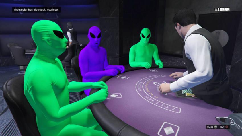 موجودات فضایی در GTA V