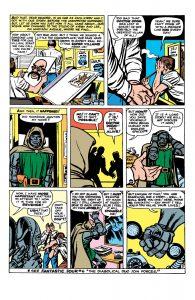 حضور کوتاه استن لی و جک کربی در شماره ۱۰ کمیک Fantastic Four (برای دیدن سایز کامل روی تصویر کلیک کنید)