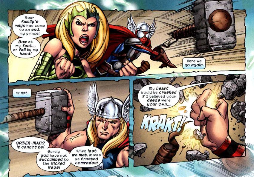 نابود شدن پتک تقلبی ثور به دست ثور اودینسان