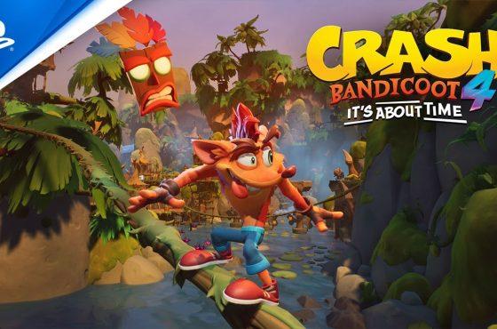 بازی جدید سری کرش بندیکوت با نام Crash Bandicoot 4: It's About Time معرفی شد
