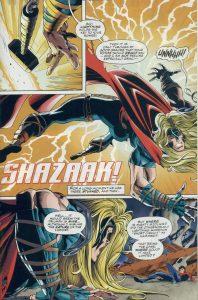 مبارزه ثور و شزم در شماره ۲ کمیک DC vs. Marvel (برای دیدن سایز کامل روی تصویر کلیک کنید)