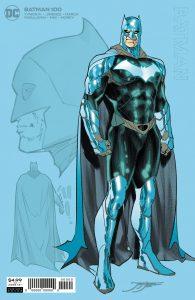 زره براق بتمن در جلد ورینت شماره ۱۰۰ کمیک Batman (برای دیدن سایز کامل روی تصویر کلیک کنید)
