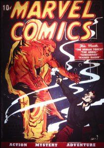 کاور شماره ۱ کمیک Marvel Comics (برای دیدن سایز کامل روی تصویر کلیک کنید)