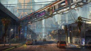 تصاویر هنری جدید Cyberpunk 2077 منطقه فقیرنشین Santo Domingo را نمایش میدهند