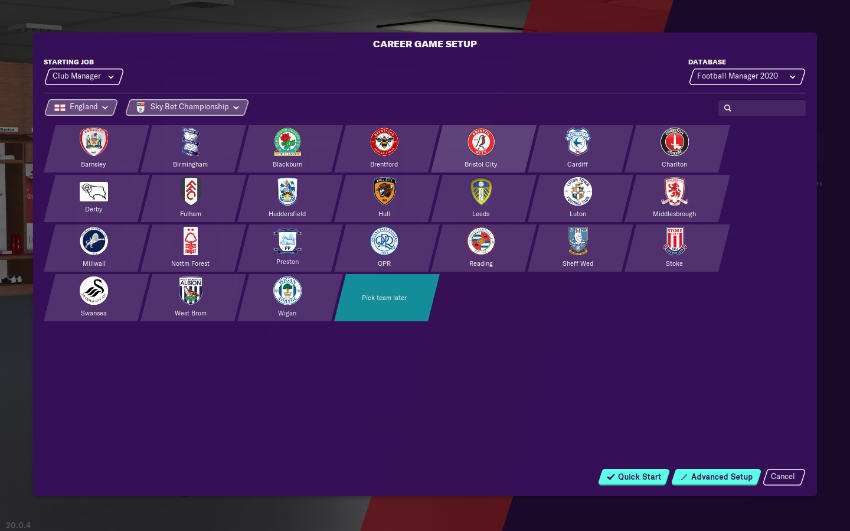بازی شبیهساز Football Manager 2020