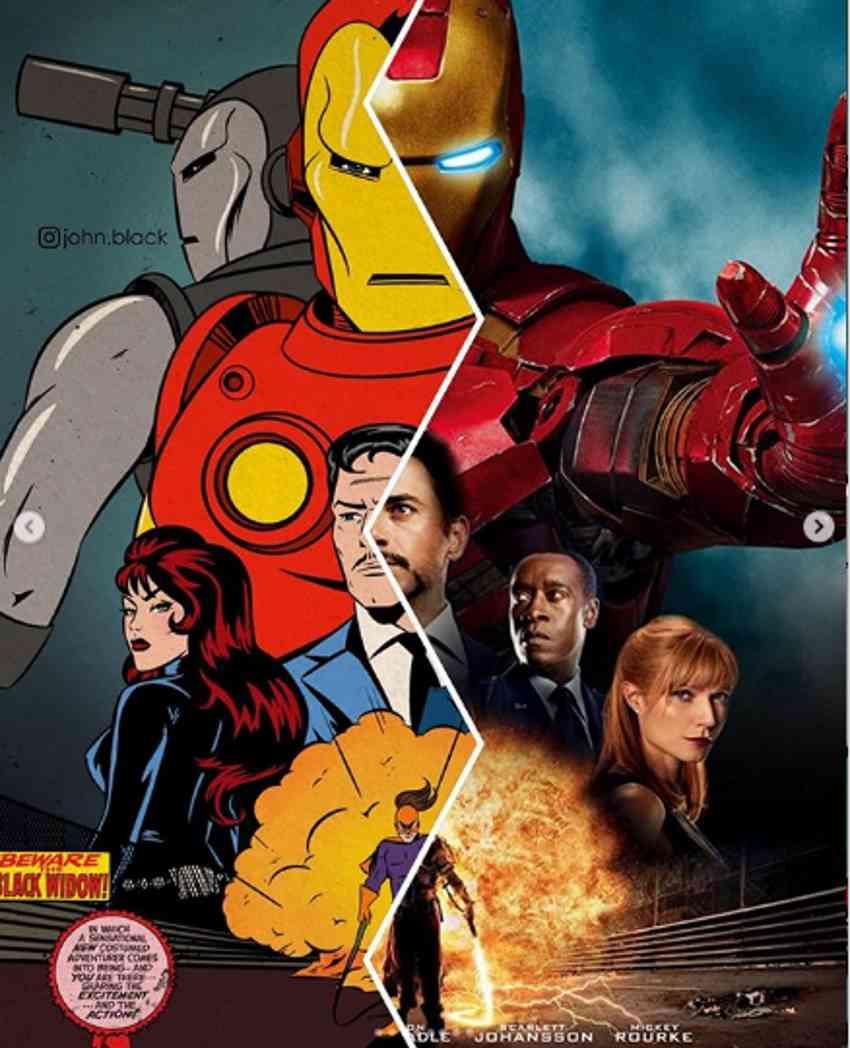 پوستر فیلم Iron Man 2 به جلد کمیک بوک مرد آهنی تبدیل میشود؟