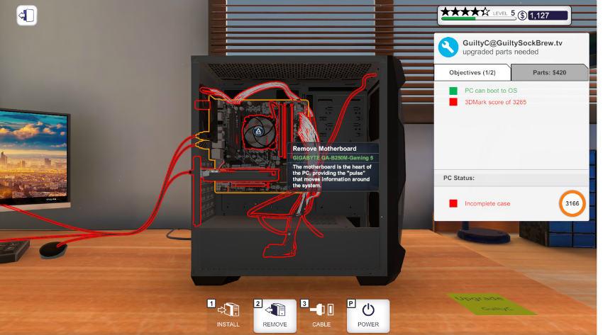 بازی شبیهساز PC Building Simulator