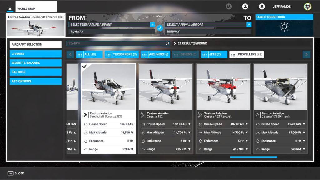 راهنمای Microsoft Flight Simulator - هواپیماهای ملخی (Propeller planes)