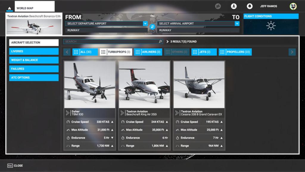 راهنمای Microsoft Flight Simulator - هواپیماهای توربوپراپ (Turboprops)