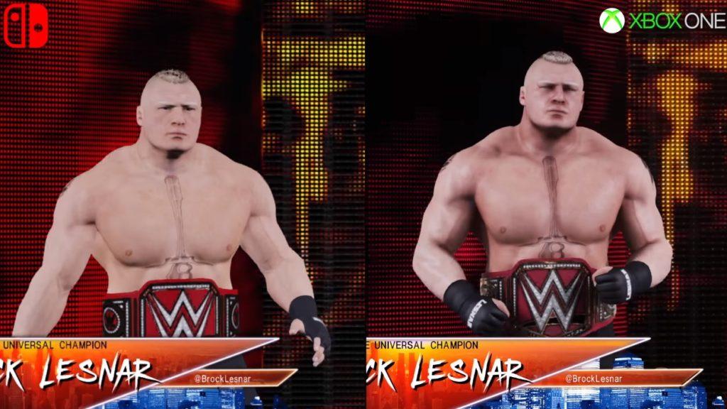 مقایسه کیفیت WWE 2K18 در کنسولهای ایکس باکس وان و پورت نینتندو سوییچ
