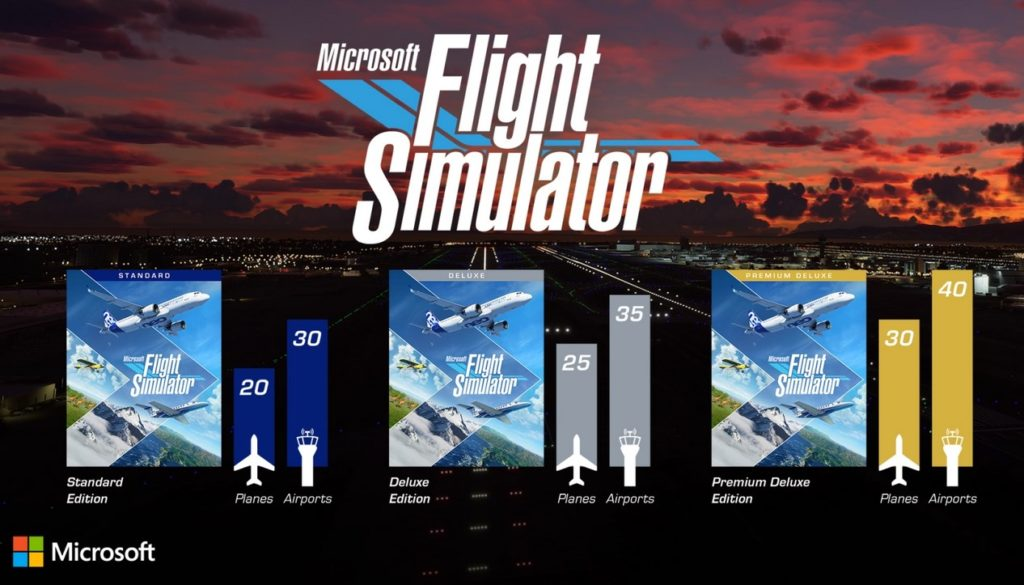 تفاوت نسخه‌ها Microsoft Flight Simulator