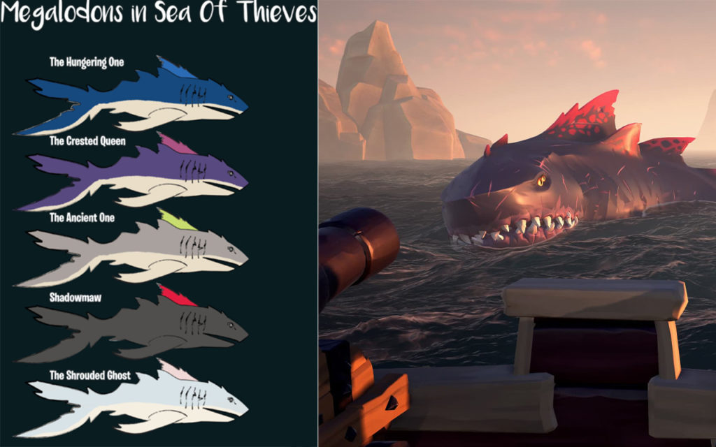 Megalodonها در Sea of Thieves