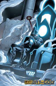 بتمن روی تخت موبیوس در طول خط داستانی The Darkseid War (برای دیدن سایز کامل روی تصویر کلیک کنید)