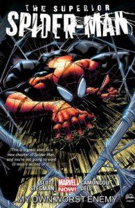 کاور مربوط به خط داستانی Superior Spider-Man (برای دیدن سایز کامل روی تصویر کلیک کنید)