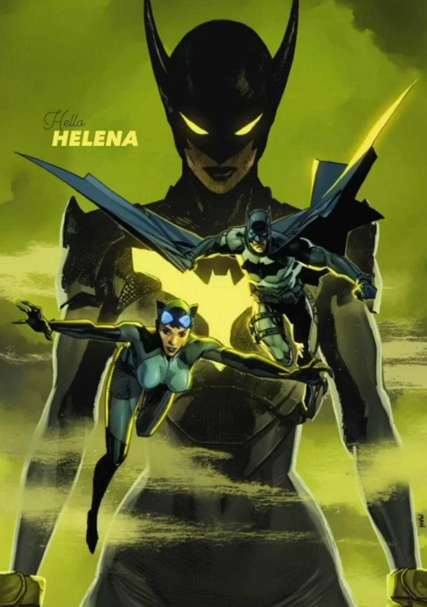 هلنا وین روی کاور شماره ۴ کمیک Batman/Catwoman