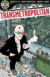 کاور شماره ۱ کمیک Transmetropolitan (برای دیدن سایز کامل روی تصویر کلیک کنید)