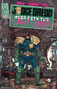 کاور شماره ۱ کمیک Judge Dredd: Mega-city Two (برای دیدن سایز کامل روی تصویر کلیک کنید)