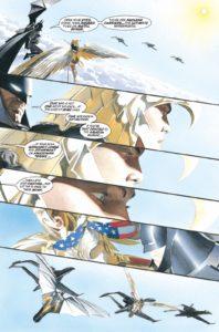 زره طلایی واندر وومن در کمیک Kingdom Come (برای دیدن سایز کامل روی تصویر کلیک کنید)
