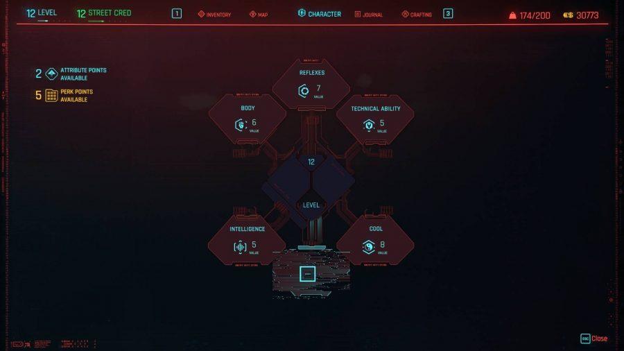 راهنمای شخصی سازی ویژگیهای V در Cyberpunk 2077 - ویژگی یا «Attributes»