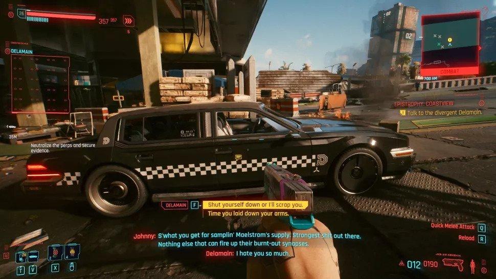 ایستر اگهایی در Cyberpunk 2077 که نباید از دست بدهید - ایستر اگ بازی پورتال و GLaDOS