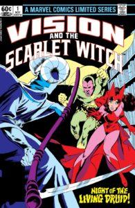 کاور شماره ۱ سری اول The Vision And The Scarlet Witch (برای دیدن سایز کامل روی تصویر کلیک کنید)