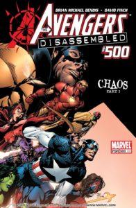 کاور شماره ۱ کمیک Avengers Disassembled (برای دیدن سایز کامل روی تصویر کلیک کنید)