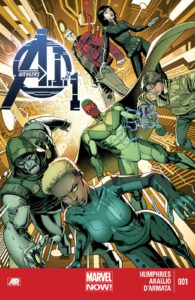 کاور شماره ۱ کمیک Avengers A.I (برای دیدن سایز کامل روی تصویر کلیک کنید)