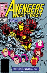 کاور شماره ۵۱ کمیک West Coast Avengers (برای دیدن سایز کامل روی تصویر کلیک کنید)