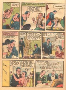 مخفی بودن یکی بودن سوپرمن و کلارک کنت بر لوئیس لین در شماره ۱ کمیک Action Comics (برای دیدن سایز کامل روی تصویر کلیک کنید)