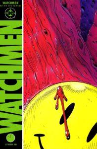 کاور شماره ۱ کمیک Watchmen (برای دیدن سایز کامل روی تصویر کلیک کنید)