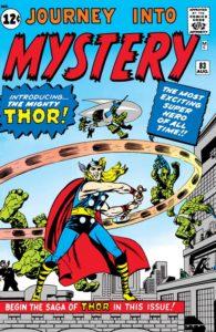 ثور روی جلد شماره ۸۳ کمیک Journey into Mystery (برای دیدن سایز کامل روی تصویر کلیک کنید)