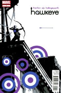کاور شماره ۱ کمیک Hawkeye (برای دیدن سایز کامل روی تصویر کلیک کنید)